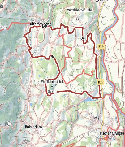 """Karte / Themenweg Hörnerdörfer: Wege für Leib und Seele - Kategorie """"lila"""""""