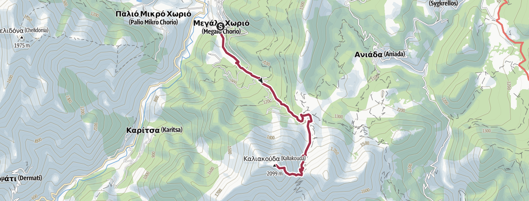 Kart / Route to  Kaliakouda