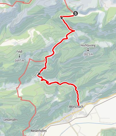 Karte / Etappe 06 Vom Gletscher zum Wein Nordroute Hochmölbinghütte - Wörschach