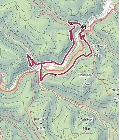 Karte / Erfenstein - Drei-Burgen-Rundweg