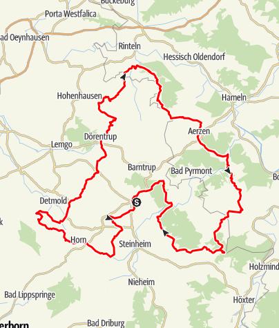 Karte / Rund um Blomberg ins Lipper Bergland