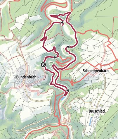 Karte / Traumschleife Hahnenbachtaltour
