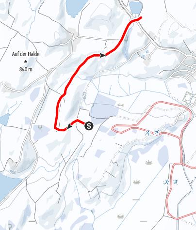 Karte / Loipenanschluss Bannwaldsee-Loipe - Berghof-Loipe