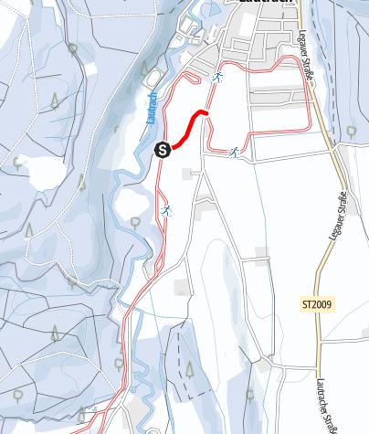Karte / Loipenanschluss Große Lautracher Runde - Dorfloipe