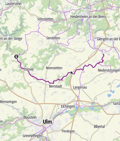 Karte / Lonetalradweg