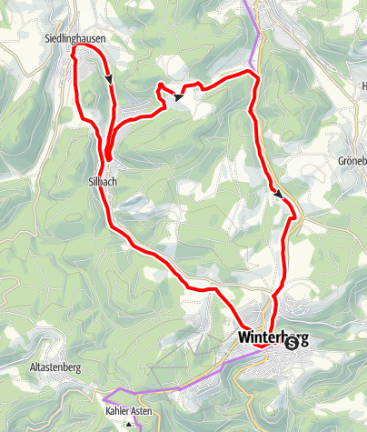 Karte / Bergsee-Tour, Start und Ziel in Winterberg