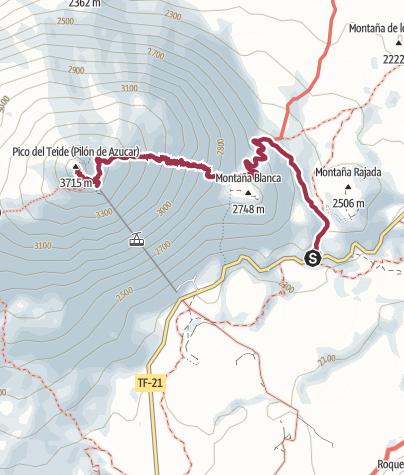 Karte / Auf den Pico del Teide