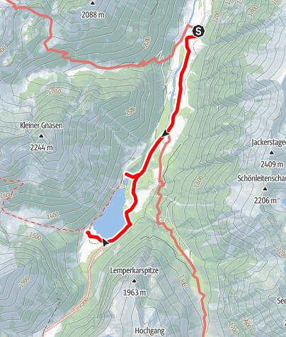 Karte / Schwarzensee und Putzental Alm