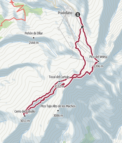 Mapa / Pradollano-Cerro Caballo-Veleta