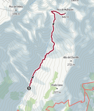 Mapa / Capileira-Mulhacen