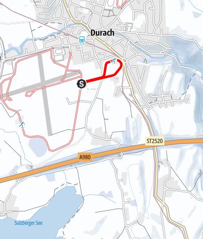 Karte / Flugplatzloipe Erweiterungsrunde zur Füssener Straße