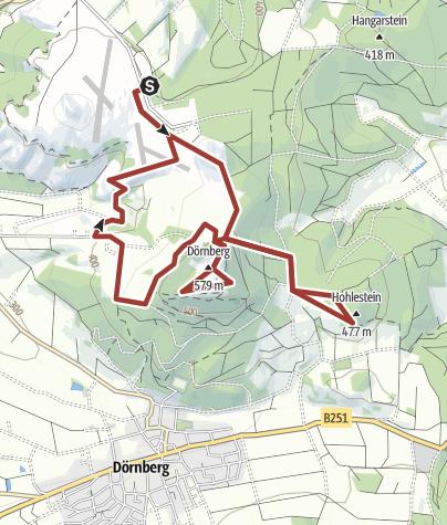 Map / Wanderung auf dem Eco Pfad Archäologie Dörnberg im Naturpark Habichtswald