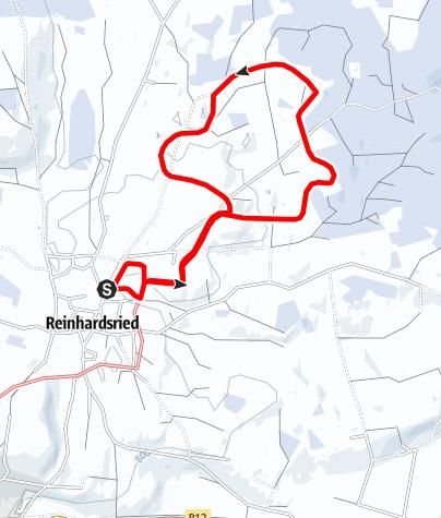 Karte / Rundkurs zum Aussichtspunkt Römerbühl Reinhardsried (U 4)