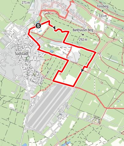 Karte / Oerlinghausen -Über den Lönsweg zum Segelflugplatz- Rundwanderweg A7