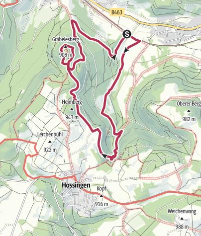 Karte / Traufgang Hossinger Leiter in Albstadt