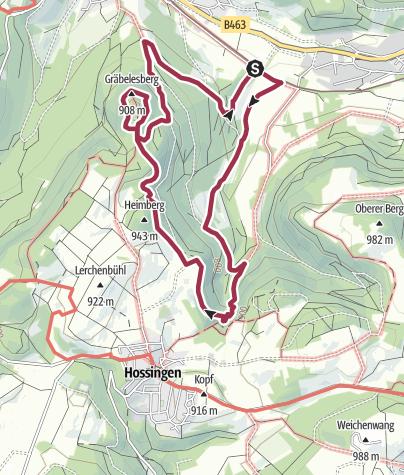 Karte / Traufgang Hossinger Leiter