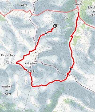 Karte / Madrisa Rundtour (eintägig) - Berge kennen keine Grenzen