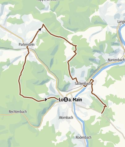 Karte / Rund um Lohr Teil 1