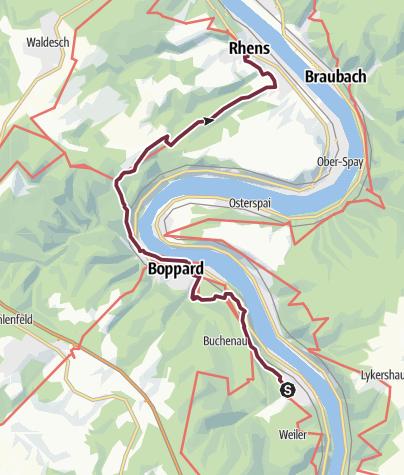 Map / RheinBurgenWeg Stage 6: Bad Salzig - Rhens (South - North)