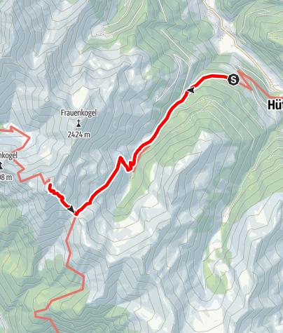Karte / Großarltal: Gamskarkogel