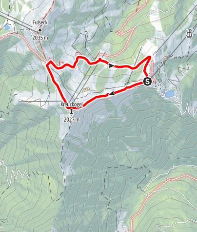 Karte / Großarl: Kreuzkogel - Gehwolf Alm