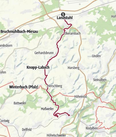 Karte / Der Mühlenweg durchs Wallhalbtal