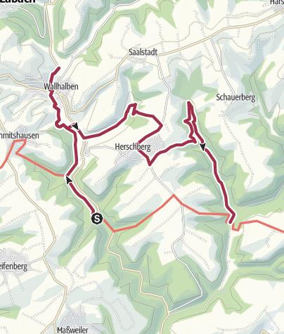 Karte / Meilbächeltal - Wasserschaupfad - Weg