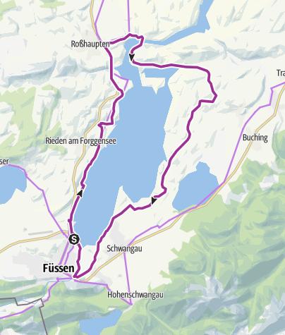 Karte / Forggensee-Runde