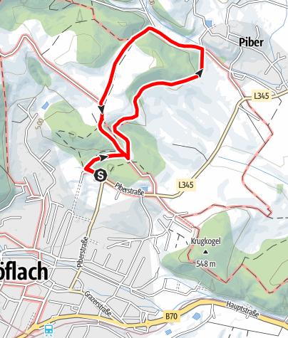 Karte / Köflacher Thermenlauf kurz (gelb)