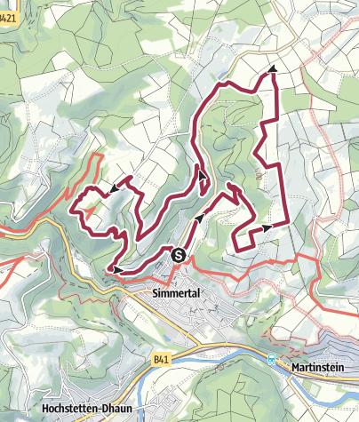 Karte / Vitaltour Felsengarten