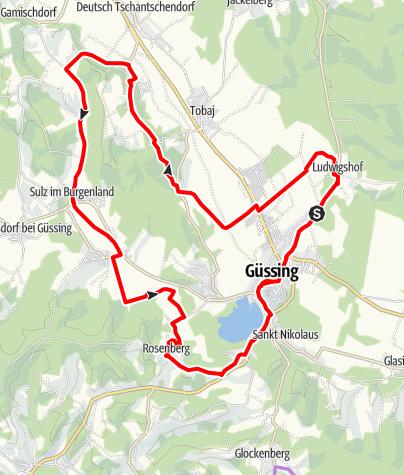 Karte / B60 Burg-Güssing-Radweg
