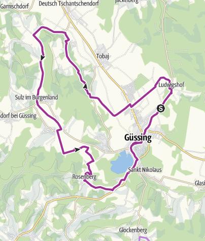 Map / B60 Burg-Güssing-Radweg