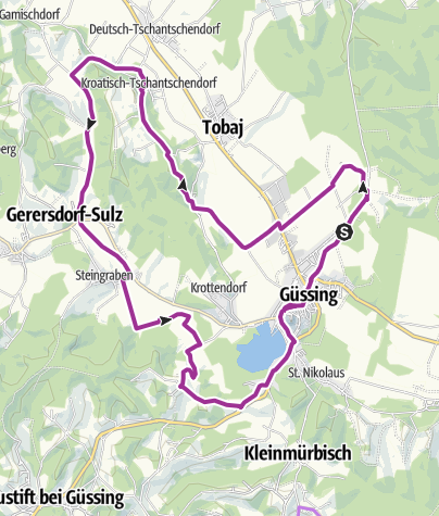 Kartta / B60 Burg-Güssing-Radweg