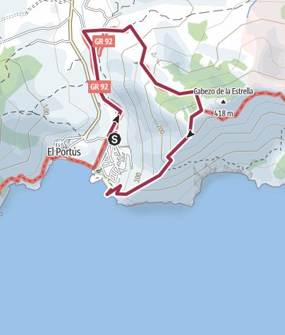 Térkép / El Portús Naturist - Puntal del Moco