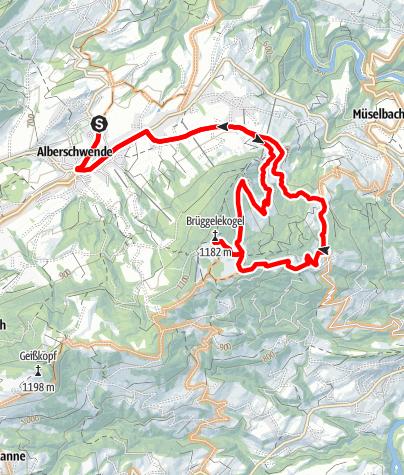 Karte / Alberschwende | Brüggelekopf-Runde