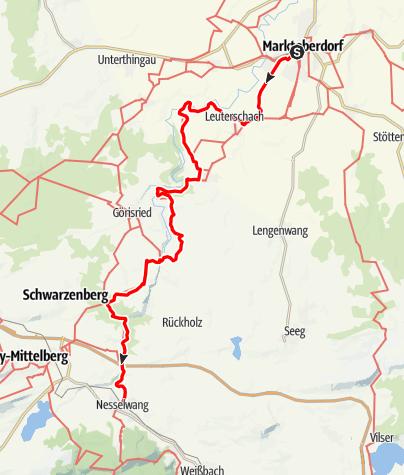 Karte / Ostallgäuer Wanderweg Marktoberdorf-Nesselwang