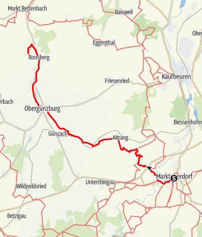 Karte / Ostallgäuer Wanderweg Marktoberdorf-Ronsberg