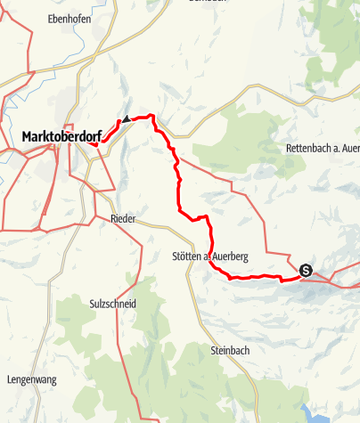 Karte / Münchner Jakobsweg im Allgäu, Auerberg-Marktoberdorf