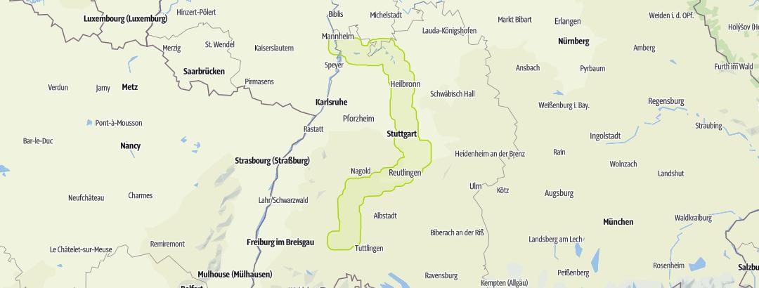 Karte / Neckartalradweg