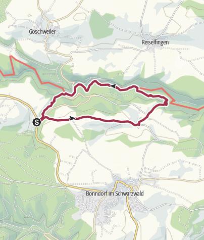Karte / Wutachschlucht Lotenbachklamm Rundweg