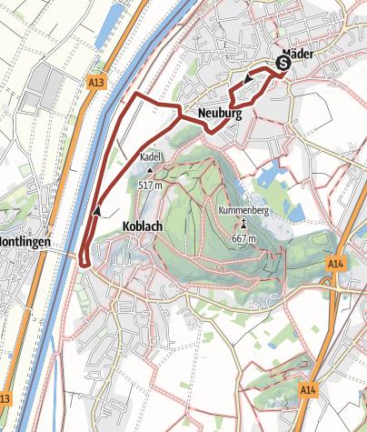 Karte / Barrierefrei: RheinSchauen am Kadel – Mäder – Koblach