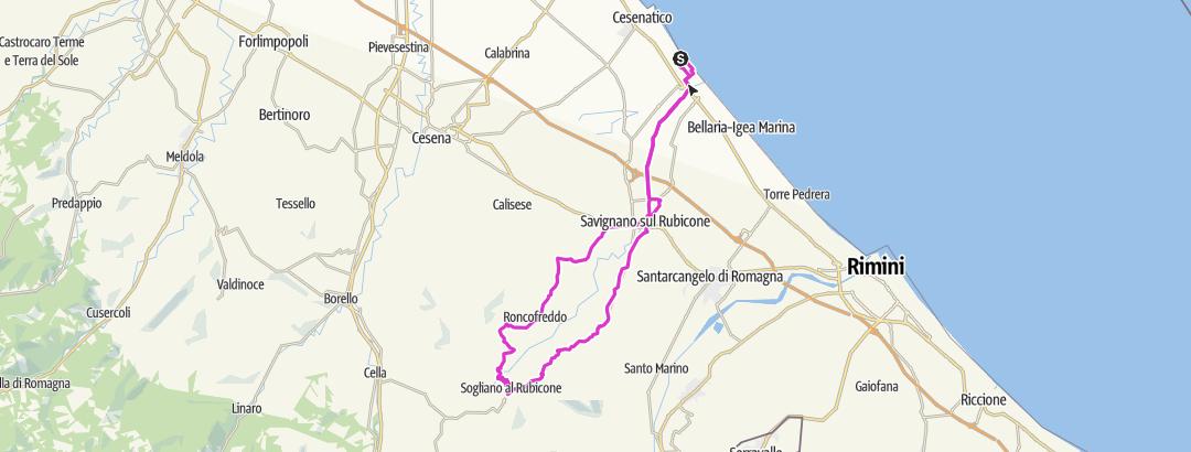 Map / Cesenatico 7. Tag
