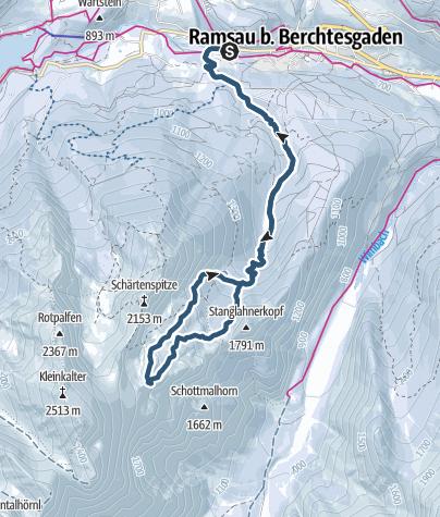 Karte / Skitour Hochalm