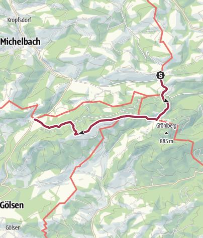 Map / Michelbacher Höhenweg 2. Etappe