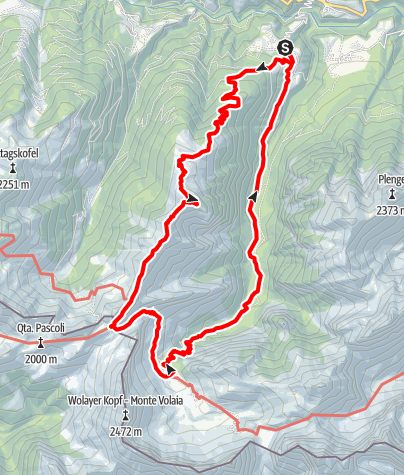 Karte / Runseck - Stallon - Kreuzleiten