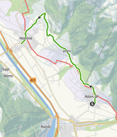 Map / Malans - Maienfeld