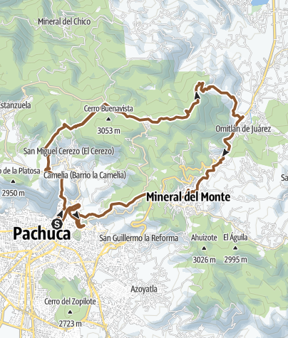 Mapa / UAEH-Jaramillo-Llano Grande-Omitlan-Cristo-UAEH