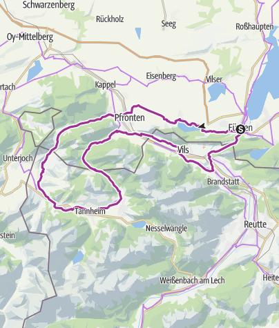 Karte / Alpentäler-Runde