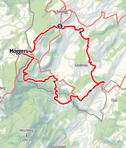 Karte / Rund um Scheidegg: Tageswanderung auf den Spuren der Eiszeit - Westallgäuer Wasserweg 3