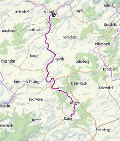 Karte / Mineralquellen-Route (Ahrdorf - Daun)